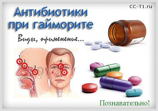 Лікування гаймориту антибіотиками