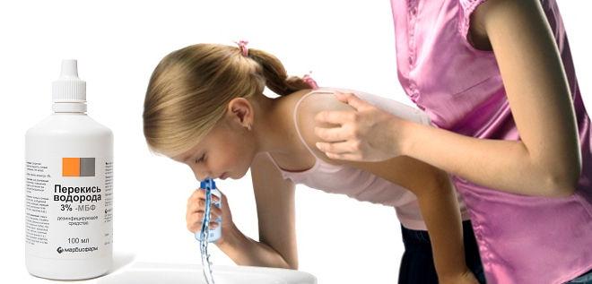 Перекис водню від нежитю для дорослих і дітей