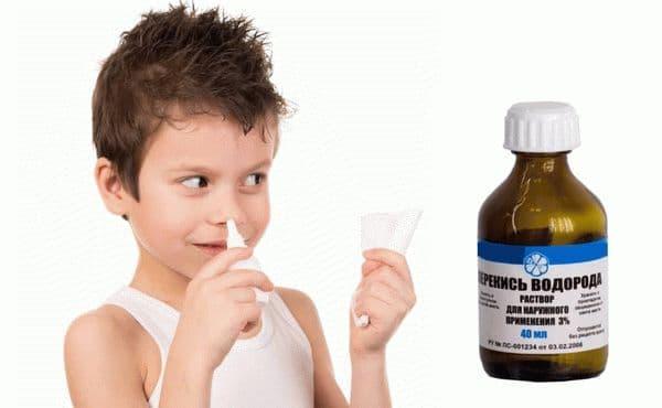 Перекис водню в ніс для промивання при нежиті та гаймориті