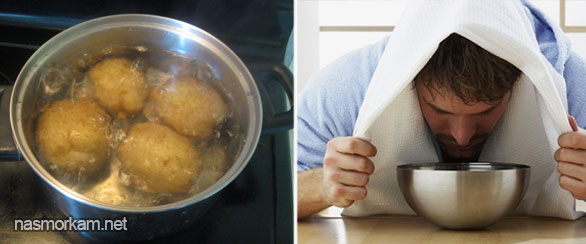 Як правильно дихати над картоплею основні рекомендації