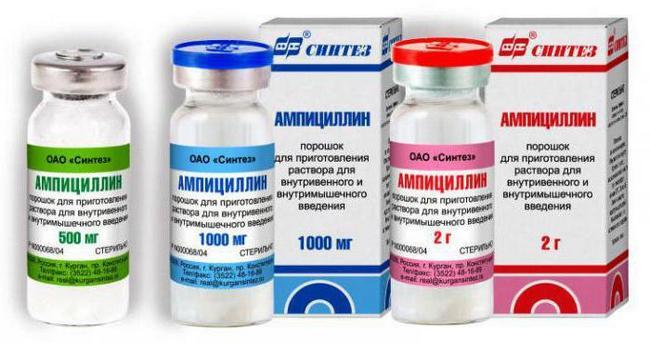Як приймати Ампіцилін в таблетках при ангіні