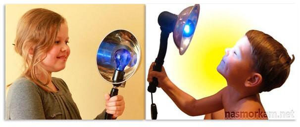 Застосування синьої лампи при отиті