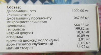 Застосування та дозування препарату Вильпрафен солютаб при гаймориті